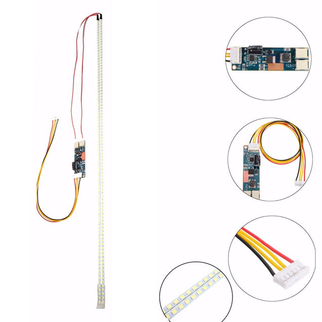 540mm LED Backlight Strip Kit Adjustable Update 24x24 Inch CCFL LCD Screen to LED Monitor Module