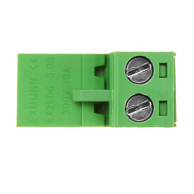 5.08mm Pitch 2Pin Plug in Screw PCB Dupont Cable Terminal Block Connector Right Angle
