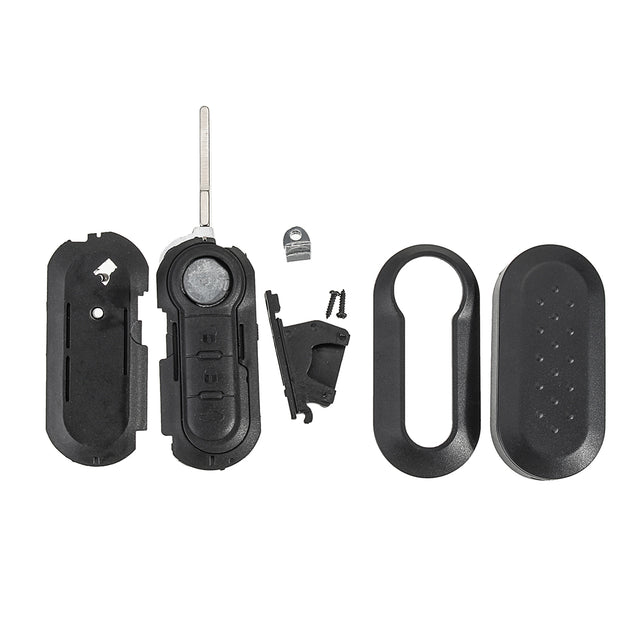 3 Buttons Black Remote Key Case Fob Blank Flip Blade for Citroen Relay Jumper