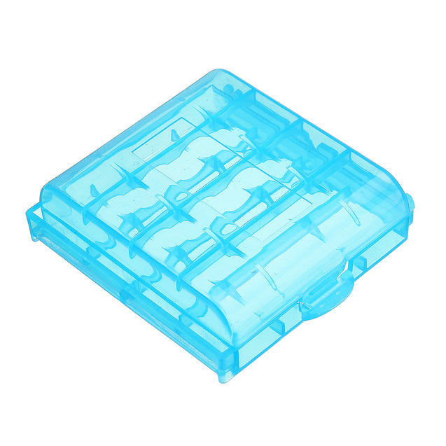 5 Powerlion PL-B5742 Clear AA AAA Battery Storage Box Case-Blue