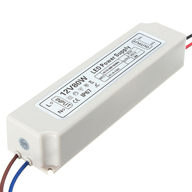 IP67 80W AC100-264V To DC12V Switching Power Supply Driver Adapter