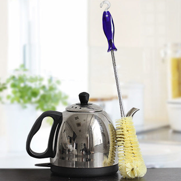 Long Handle Flexible Bottle Cleaning Brush Thermos Teapot Cleaner Easy Kitchen Cleaning Tools