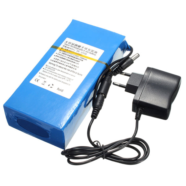 DC 12V 15000mAh Super Rechargeable Portable Lithium Ion Battery Pack
