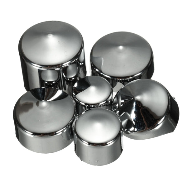 78pcs Chrome Bolt Toppers Cover Caps Kit For Harley Davidson Dyna Glide