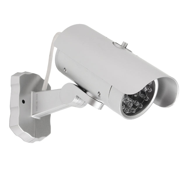 Emulational Dummy CCTV Outdoor Security Camera with 18 Red Flashing LED Light