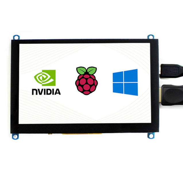 Wareshare 5 Inch VGA HDMI High Definition Display Capacitive Touch Screen Support for NVIDIA Jetson Nano Raspberry Pi