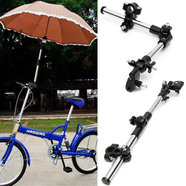 Umbrella Stand Baby Car Supporter Connector Holder Pipe Bar Attachment Clamp Wheelchair Scooter