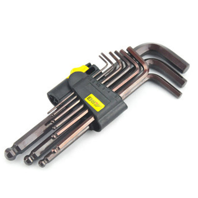 BOY 6207 9Pcs 1.5/2/2.5/3/4/5/6/8/10mm Ball Point Hexagon Hex Allen Key Wrench Screwdriver Set Tool