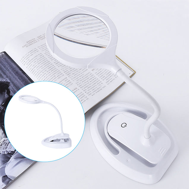 3 Gears Handheld Magnifier 5-10X Reading Magnifying Glass Lens Loupe with 15 LED Lights