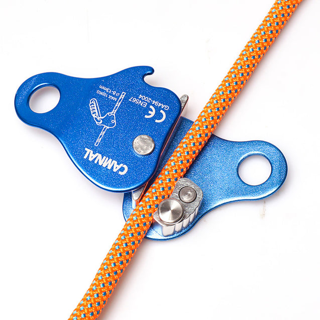 CAMNAL Aluminum Alloy Climbing Rope Grab Self-Locking Mountaineering Gear for 8-13mm Rope