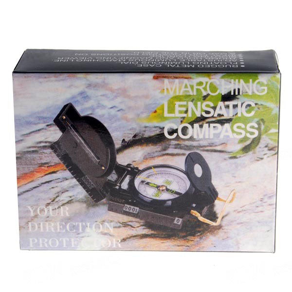 3 in 1 Military Hiking Camping Lensatic Lens Compass