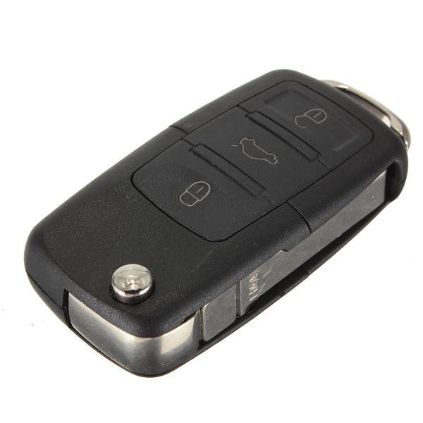 Uncut Remote Flip Key Fob Transmitter 4 Buttons for VW Jetta Golf