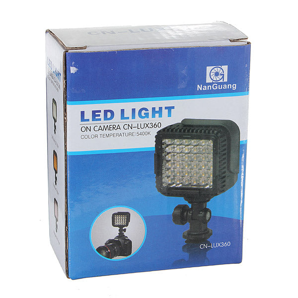 CN-LUX360 Portable 36 LED Video Light Lamp For Canon Nikon Camera DV