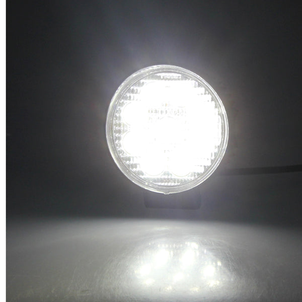 27W 9 LED Round Work Light Spot Beam Off Road Light Truck