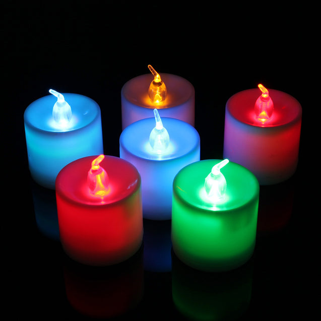 7 Color LED Monochrome Flash Candle Light Flicker Electronic Flameless