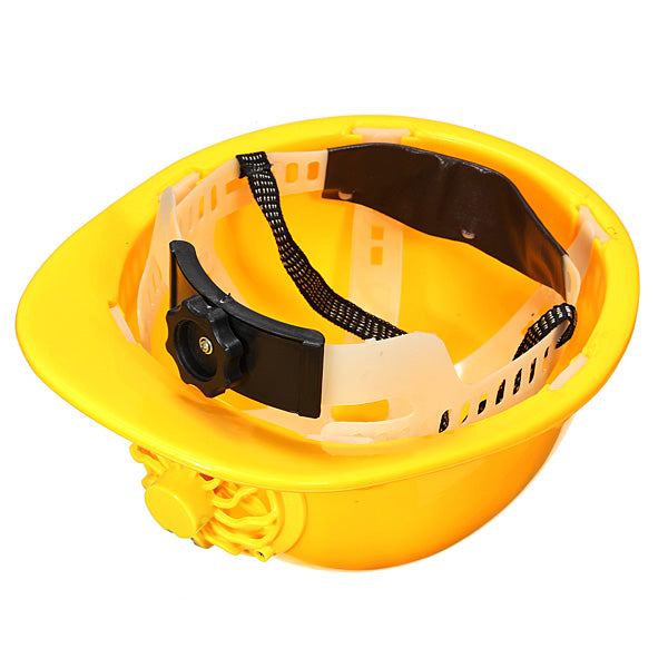 Solar Powered Safety Helmet Hard Ventilate Hat with Cooling Cool Fan