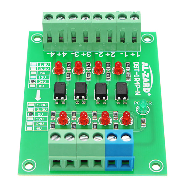 24V To 5V 4 Channel Optocoupler Isolation Board Isolated Module PLC Signal Level Voltage Converter
