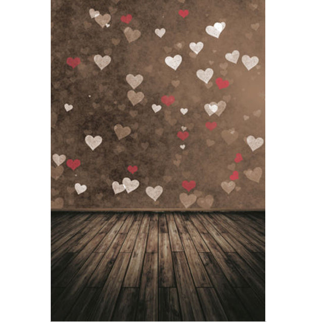 7x5ft Valentine's Day Love Heart Theme Photography Vinyl Backdrop Studio Background 2.1m x 1.5m