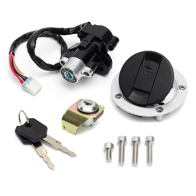 Ignition Switch Lock & Fuel Gas Cap Key Seat For Suzuki GSXR600 750 1000 03-15