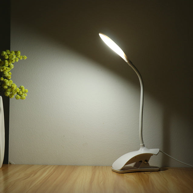 Flexible LED Table Lamp USB Desk Holder Clip On Bedside Study Reading Book Light
