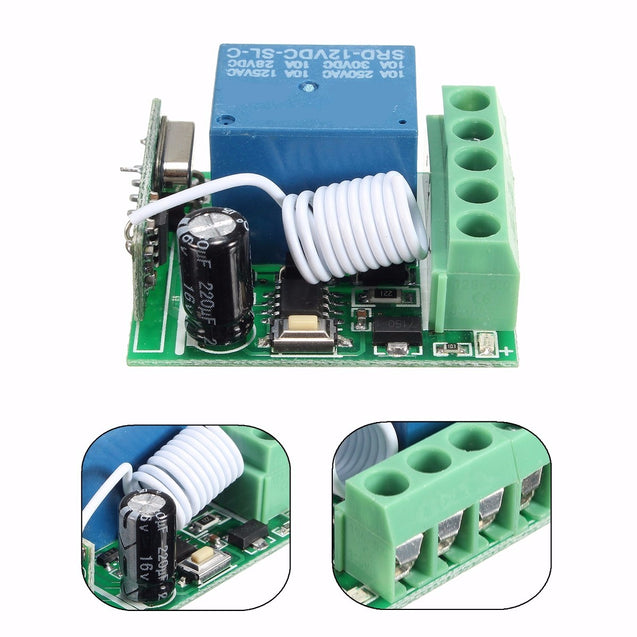 50pcs DC12V 10A 1CH 433MHz Wireless Relay RF Remote Control Switch Receiver Module