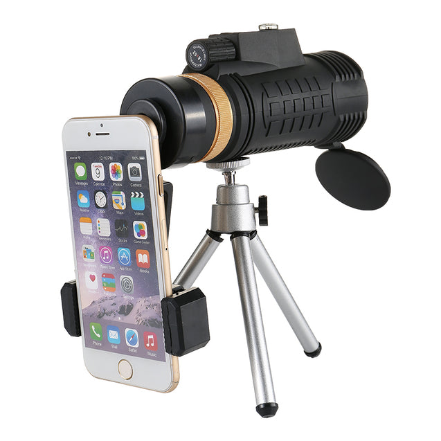18x62 Outdoor Compass Monocular HD Optic Day Night Vision Phone Telescope Cmaping Travel