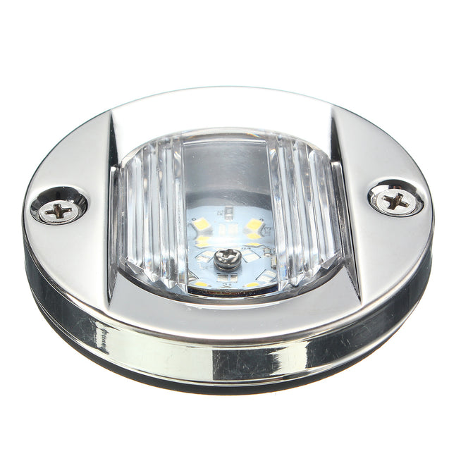 75mm LED Stern Lights Tail Lamp Transom Anchor IP66 2.2W 12V White 1Pcs for Marine Boat