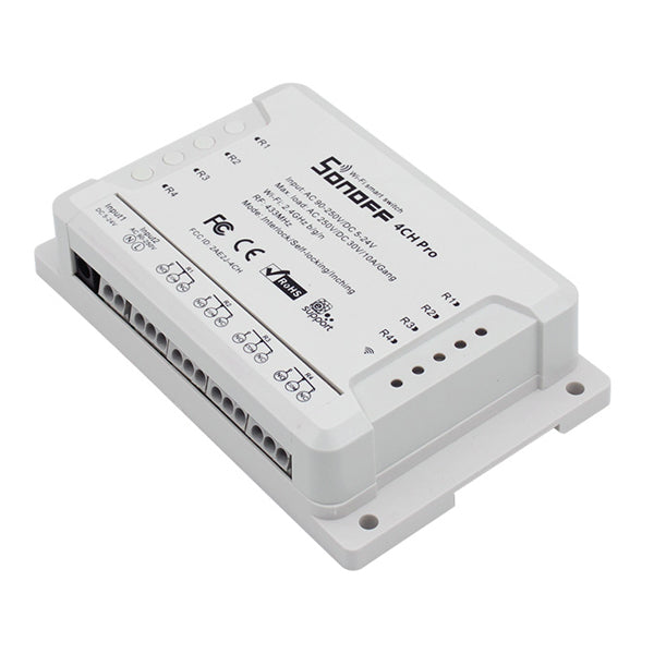 SONOFF 4CH Pro R2 10A 2200W 2.4Ghz 433MHz RF Inching/Self-Locking/Interlock Smart Home Module