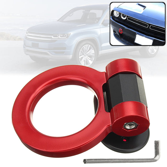 Universal Ring Track Racing Style Tow Hook Look Decoration for Cars SUV Trucks