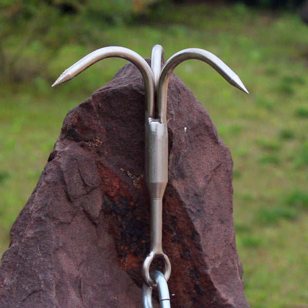 13.5cm Grapping Hook Outdoor Camping Climbing Carabiner Stainless Claw Clasp Survival Accessory