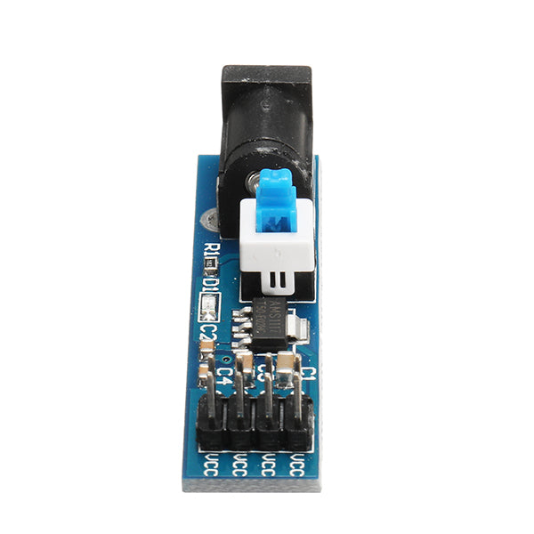 5Pcs AMS1117 5V Power Supply Module With DC Socket And Switch