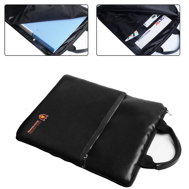 IPRee Fireproof Document Safe Bag Waterproof Briefcase Money Folder Holder Storage Camping