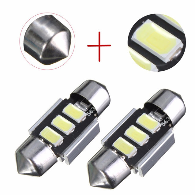 31MM Festoon 5630 Chip LED White Dome Interior Light License Plate Light Bulb