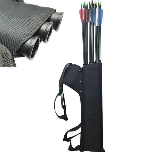 3 Tubes Arrow Quiver Backpack Arrow Holder Cave Hunting Bag For Archery Recurve Compound Bow Longbow