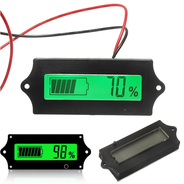 3pcs GY-6A 12V 24V 36V 48V Lead Acid Battery 2-15S Lithium Battery Capacity Indicator Voltmeter