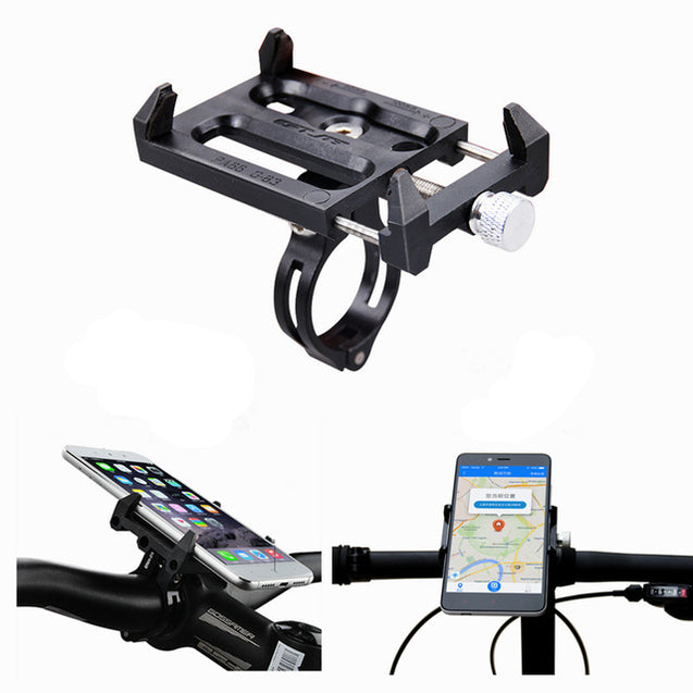 GUB G-83 Anti-Slip Universal Bicycle 3.5-6.2inch Phone Holder Mount Bracket for Smart Mobile Phone H