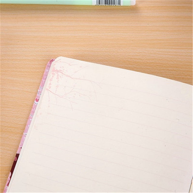 Pink Diary Planner Notebook 128 Sheets Lined Paper Hard Cover Journal Writing Book For Office School