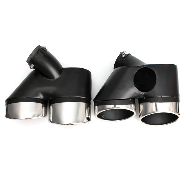 1Pair W211 Exhaust Pipe Dual Tip for Mercedes Benz