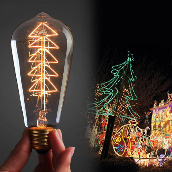E27 ST64 40W Incandescent Bulb Edison Christmas Tree Light AC 110-120V