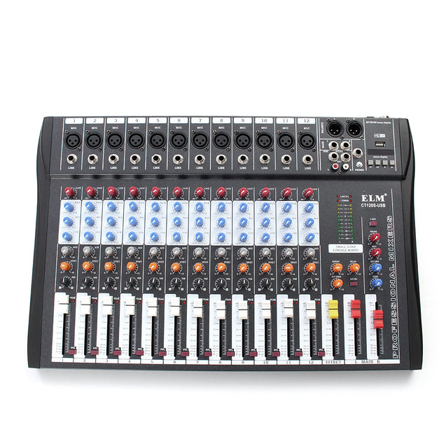 EL M CT-120S 12 Channel Professional Live Studio Audio Mixer Power USB Mixing Console