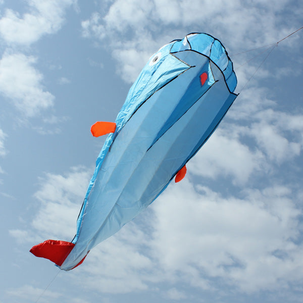 3D Huge Soft Parafoil Blue Dolphin Kite Outdoor Sport Entertainment Kite Frameless