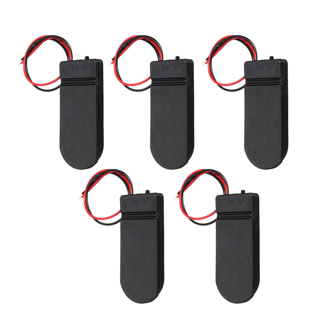5Pcs 6V CR2032 X2 Case Button Battery Holder With ON OFF Switch