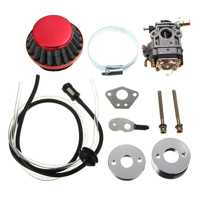 Carburetor Air Filter Fuel Line Kit For 43cc 49cc Pocket Bike Scooter ATV Moto