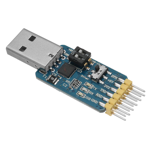 5Pcs 6 In 1 CP2102 USB To TTL 485 232 Converter 3.3V / 5V Compatible Six Multifunction Serial Module