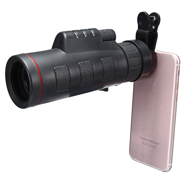 HD Clip-on 35 X 50 Optical Zoom Telescope Camera Lens For Mobile Phone Tablet