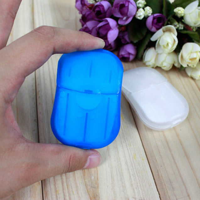 IPRee 20 Pcs Paper Soap Outdoor Travel Bath Soap Tablets Portable Hand Washing Small Sheet