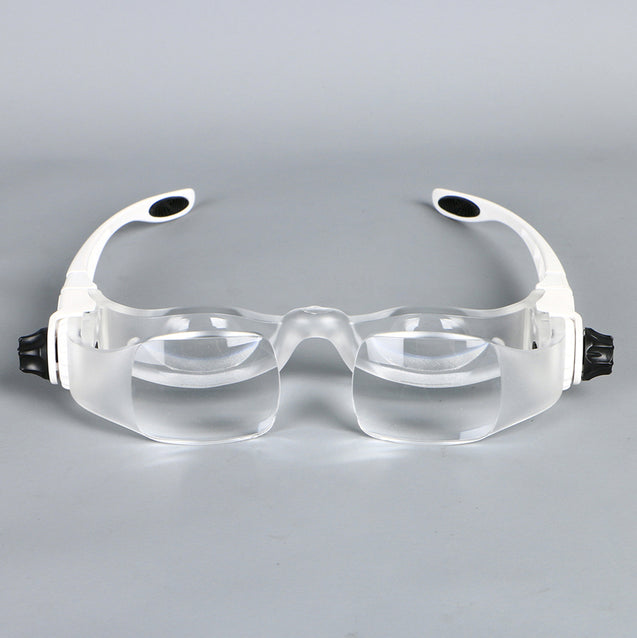 3.8X Bracket TV Reading Glasses Magnifier Loupe Goggles Headband Magnifying Glass with Phone Holder Glasses Case