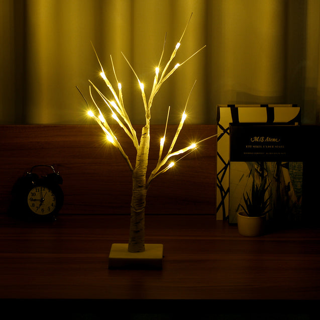 LED Silver Birch Twig Tree Light Branches Waterproof Warm White Holiday Lamp