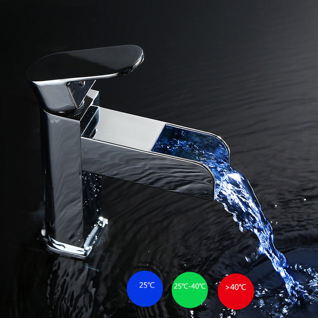 GAPPO GLD3919 Temperature LED Light Single Handle Single Hole Hot and Cold Water Sink Faucet