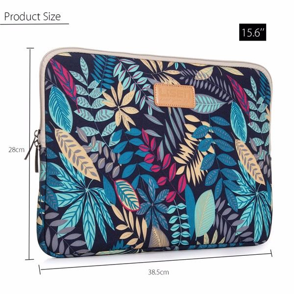 15.6 Inch Soft Canvas Bag Case Cover Sleeve Pouch ffor Laptop Notebook Ultrabook